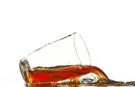 non: cola glass and cola splashing Stock Photo