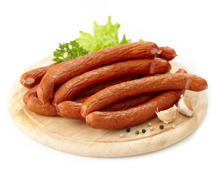 delicious smoked sausages photo