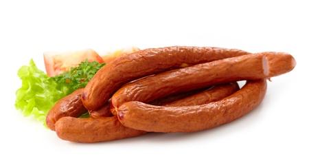 smoked sausage: delicious smoked sausages Stock Photo