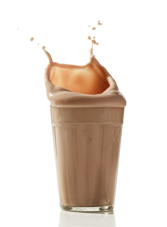 chocolate with milk: chocolate milkshake