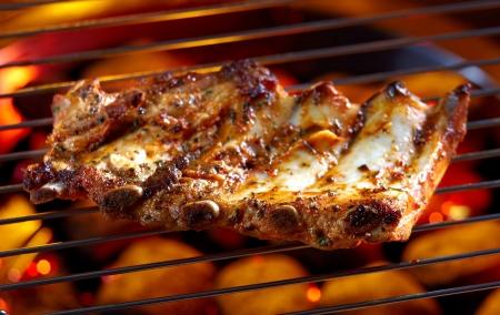 pork rib: carne alla griglia Archivio Fotografico