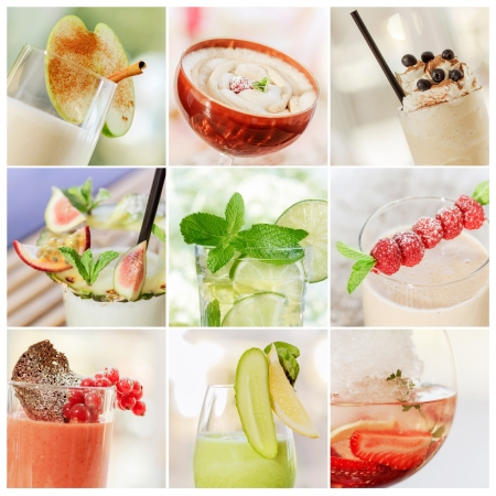 collage of fresh summer cocktails Stock Photo - 14231284