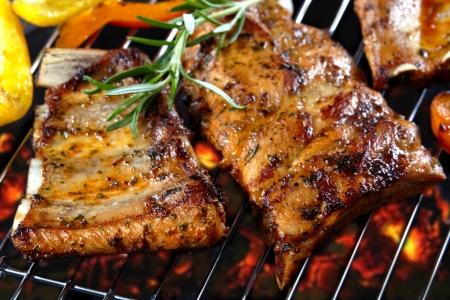 bbq ribs: grilled pork ribs