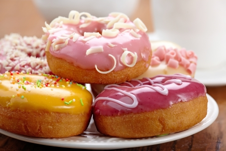 donut: baked doughnuts Stock Photo