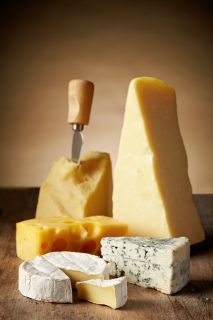 cheese knife: Various types of cheese