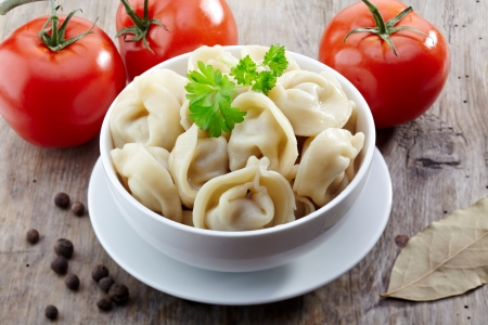dumplings russian pelmeni photo
