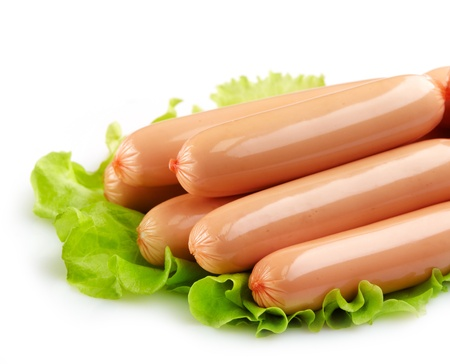 hot cold: fresh sausages Stock Photo