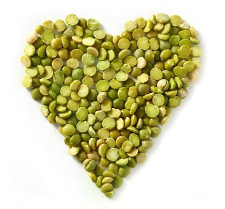 lentejas: lentejas corazón verde