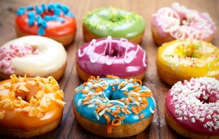 orange cake: baked donuts