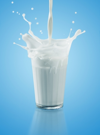 glass of milk: glass of milk Stock Photo