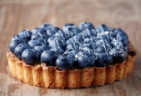 plato del buen comer: pastel de arándanos