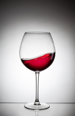 glass of white wine: red wine glass Stock Photo