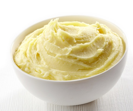 mashed: mashed potatoes in a white bowl