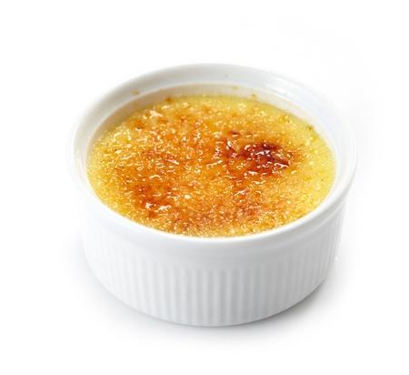 brulee: cream brulee Stock Photo