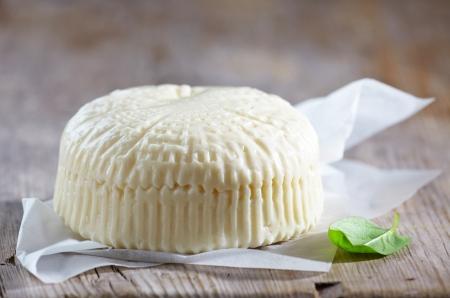 queso de cabra: queso feta fresco Foto de archivo
