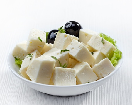 cottage cheese: fresh feta cheese