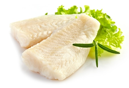 boiled: prepared pangasius fish fillet pieces