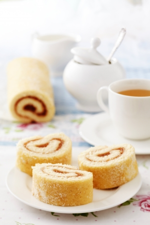 freshly baked roll cake  photo
