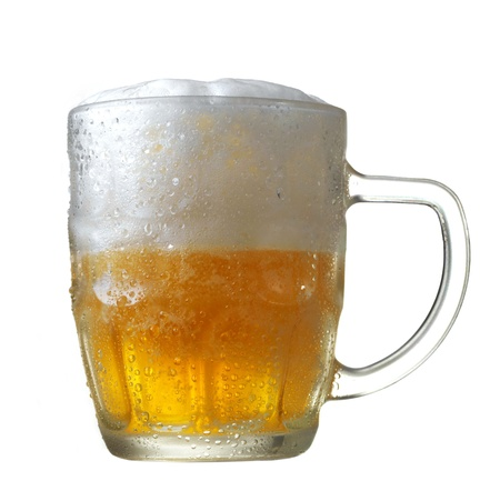mug of beer on white background photo