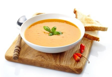 butternut squash: bowl of squash soup