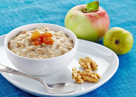 light breakfast: Bowl of oats porridge