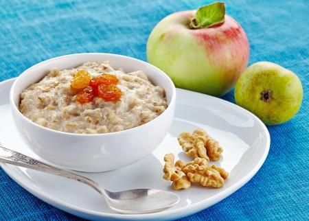 Bowl of oats porridge