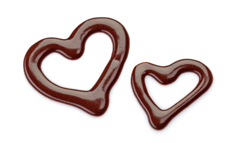 sweet chocolate sauce on a white background