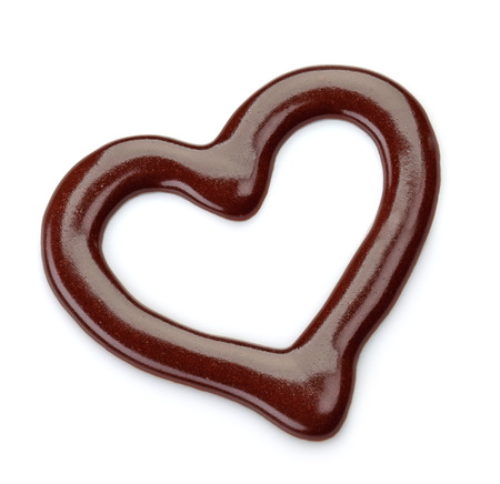 chocolate drop: sweet chocolate sauce on a white background