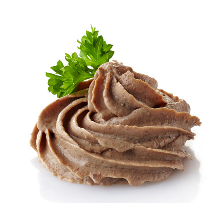 pate: liver pate on a white background