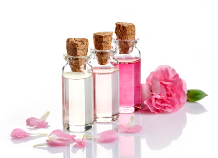 essential oil: Bottles of Spa essential oils for aromatherapy