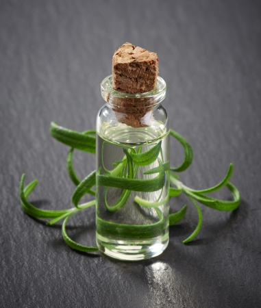 Bottles of Spa essential oils for aromatherapy photo