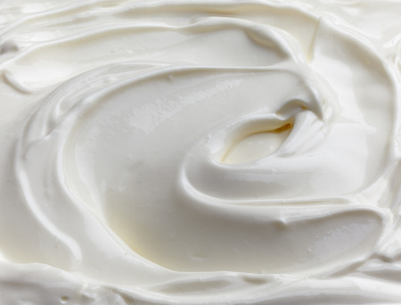 fragment of sour cream background