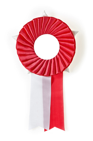 red award rosette on a white  photo