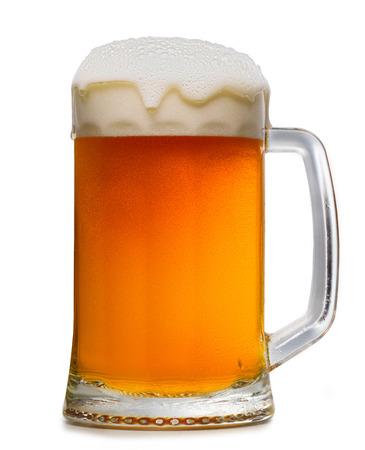 un bottled: beer mug isoalted on wwite background