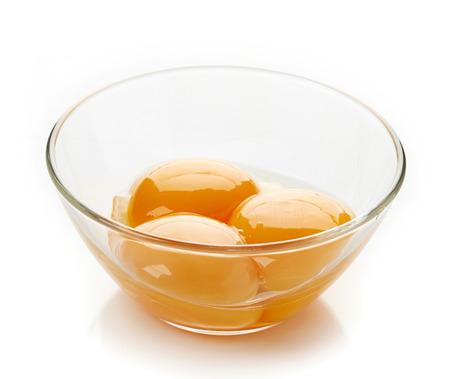 yolk: egg yolk in a bowl  Stock Photo