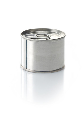 canned: canned food tin on a white background