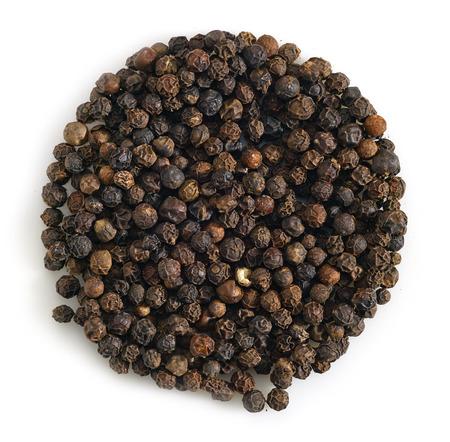 black pepper: black pepper on a white background