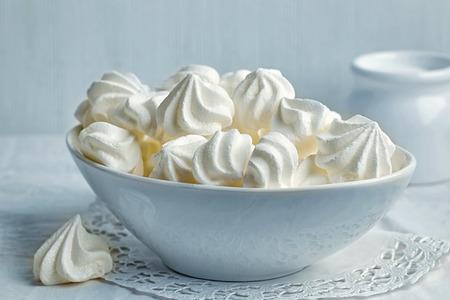 bowl of sweet meringue cookies