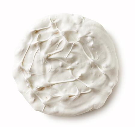 lite food: meringue cookie on a white background