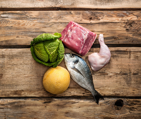 Ingrédients alimentaires premières fraîches pour l'alimentation Paleo