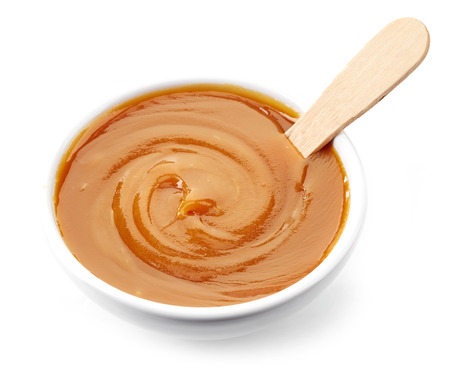 caramel: bowl of sweet caramel cream