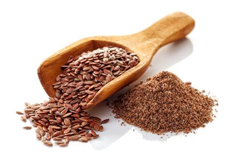 Flax seeds isolated on white background photo