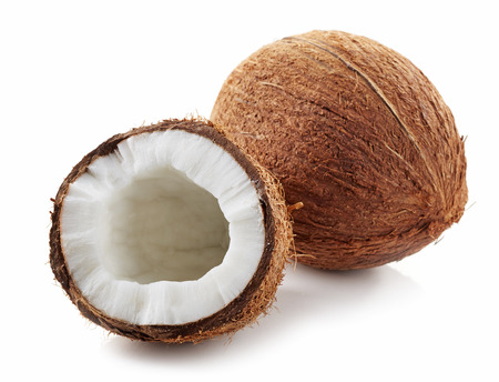 coconut isolated on a white background 스톡 콘텐츠