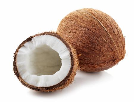 noix de coco: Coco isol� sur un fond blanc