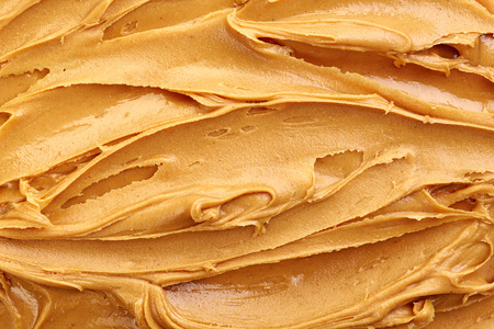 cacahuate: maní fondo mantequilla, vista desde arriba Foto de archivo