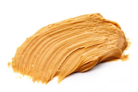peanut butter isolated on white background Stock Photo