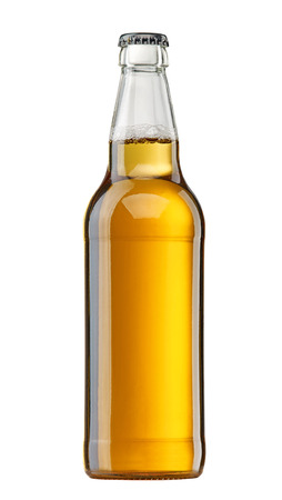 single beer bottle: beer bottle isolated on white background