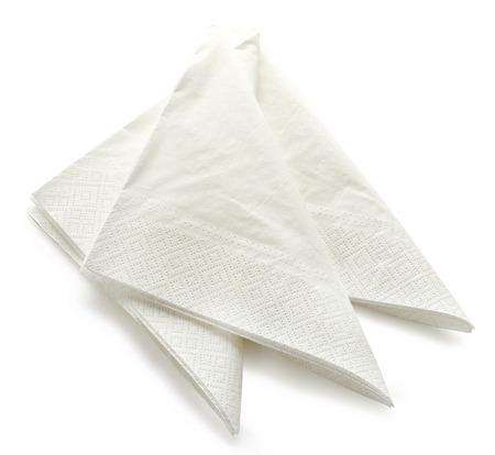 serviette: servilletas de papel aislados sobre fondo blanco Foto de archivo