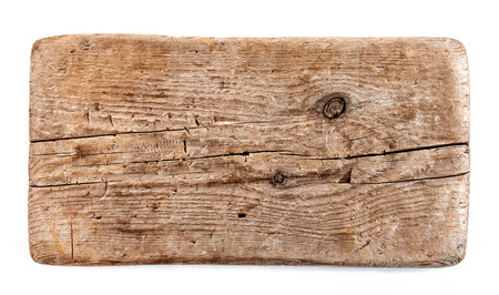 old wooden plank isolated on white background