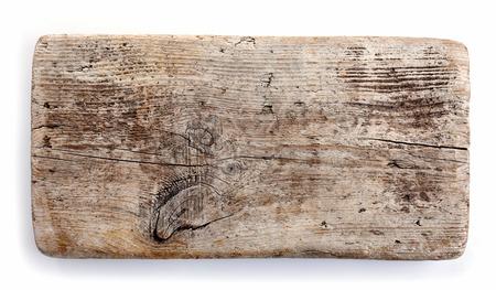 白い背景に分離された木の板 写真素材